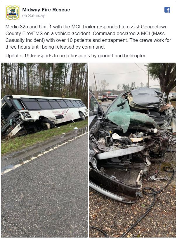 At Least 22 Hurt in a South Carolina Bus Wreck  Who is