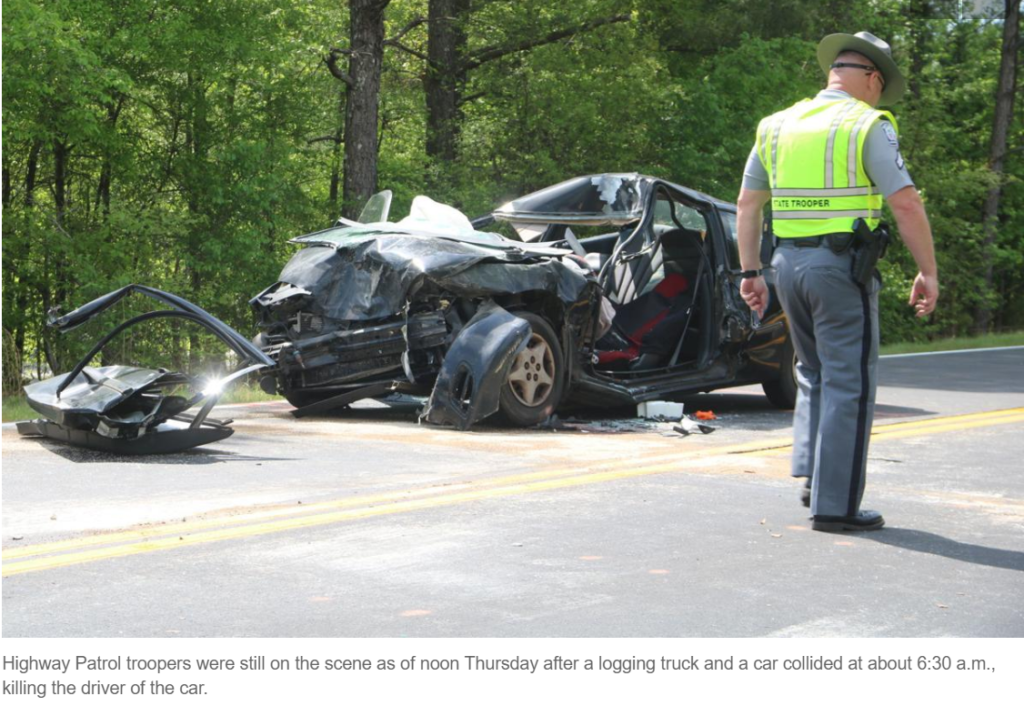 Judith Stover of Troy, SC Killed In Collision With Logging Truck In